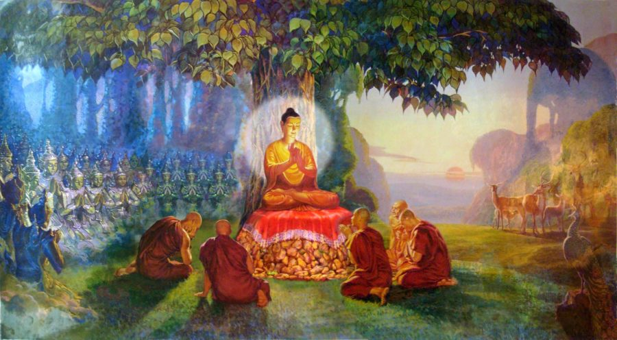 Lord Buddha Teaching the Panca Vaki